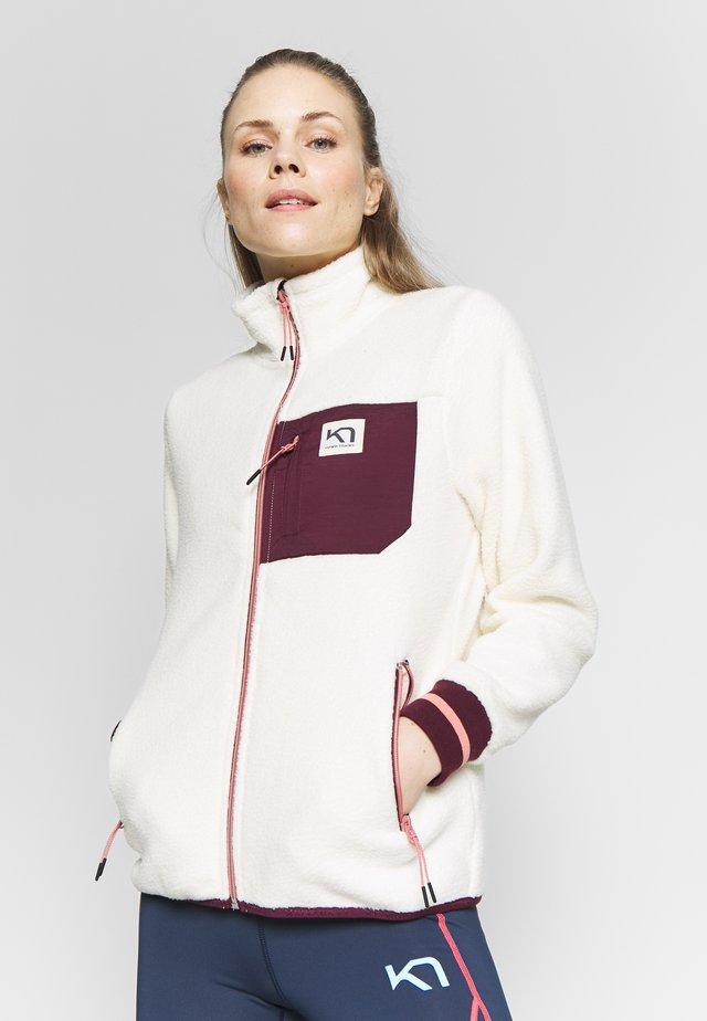 RØTHE MIDLAYER - Fleece jacket - white