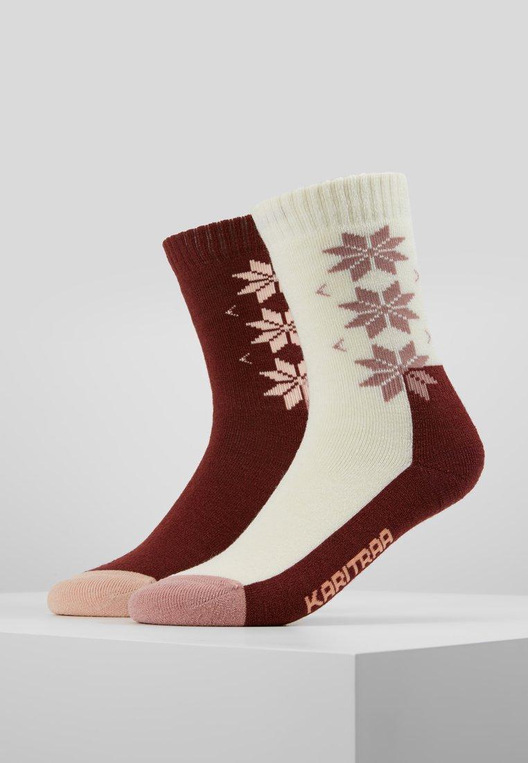 KariTraa - 2 PACK - Sports socks - bordeaux