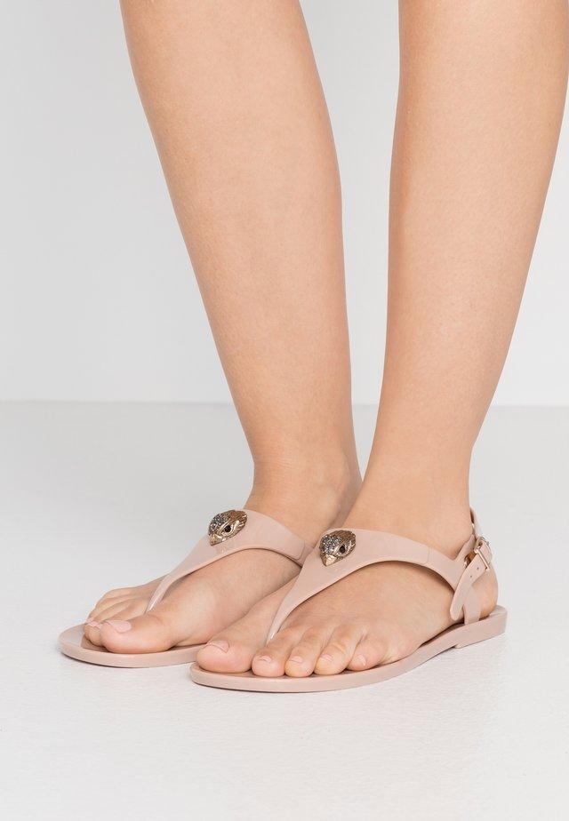 MADDISON - T-bar sandals - nude