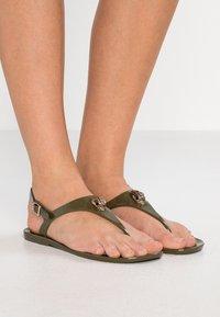 Kurt Geiger London - MADDISON - T-bar sandals - khaki - 0