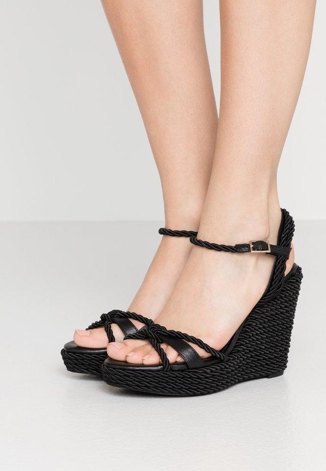 NEILE - Sandály na vysokém podpatku - black