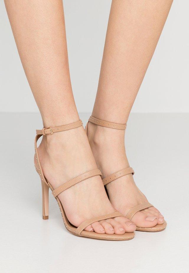 PORTIA - Sandalen met hoge hak - nude