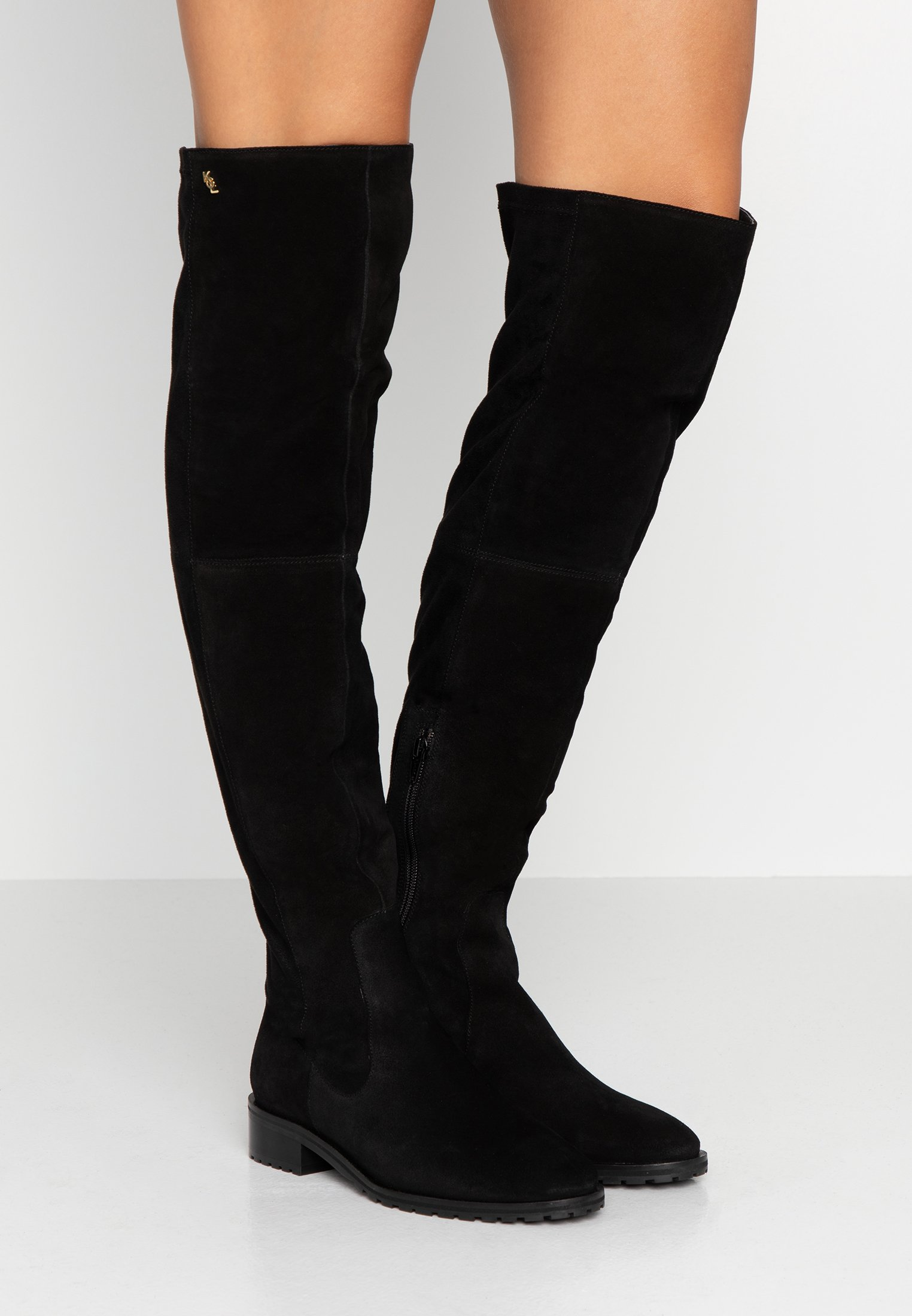 RIVA Overknee laarzen black