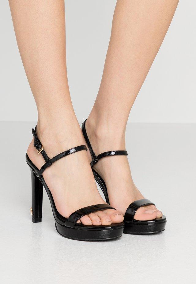 BRINLEY - High heeled sandals - black