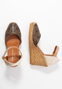 Kurt Geiger London - MONTY MONOGRAM - High heeled sandals - brown - 3