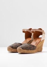 Kurt Geiger London - MONTY MONOGRAM - High heeled sandals - brown - 4