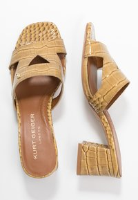 Kurt Geiger London - ODINA BLOCK - Heeled mules - camel - 3