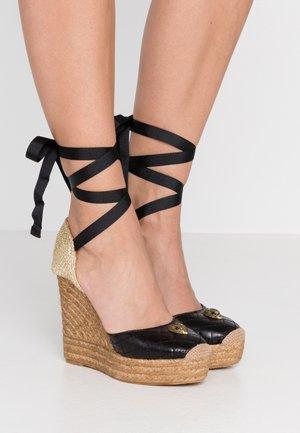 KARMEN - Højhælede sandaletter / Højhælede sandaler - black