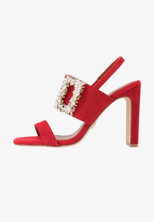 PASCAL - Sandały na obcasie - red