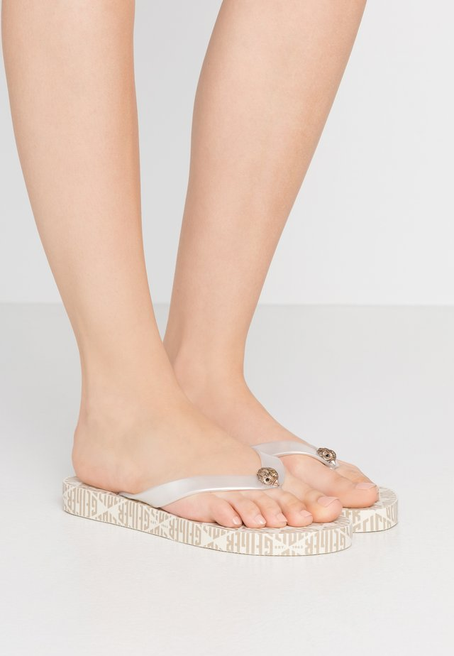 MONA MONO - T-bar sandals - white