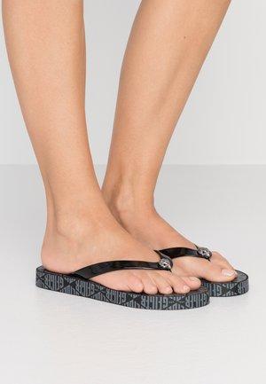 MONA MONO - Sandály s odděleným palcem - black/grey