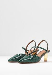 Kurt Geiger London - DELLA SLING - Classic heels - dark green - 4
