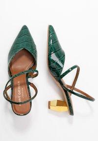 Kurt Geiger London - DELLA SLING - Classic heels - dark green - 3