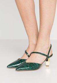Kurt Geiger London - DELLA SLING - Classic heels - dark green - 0