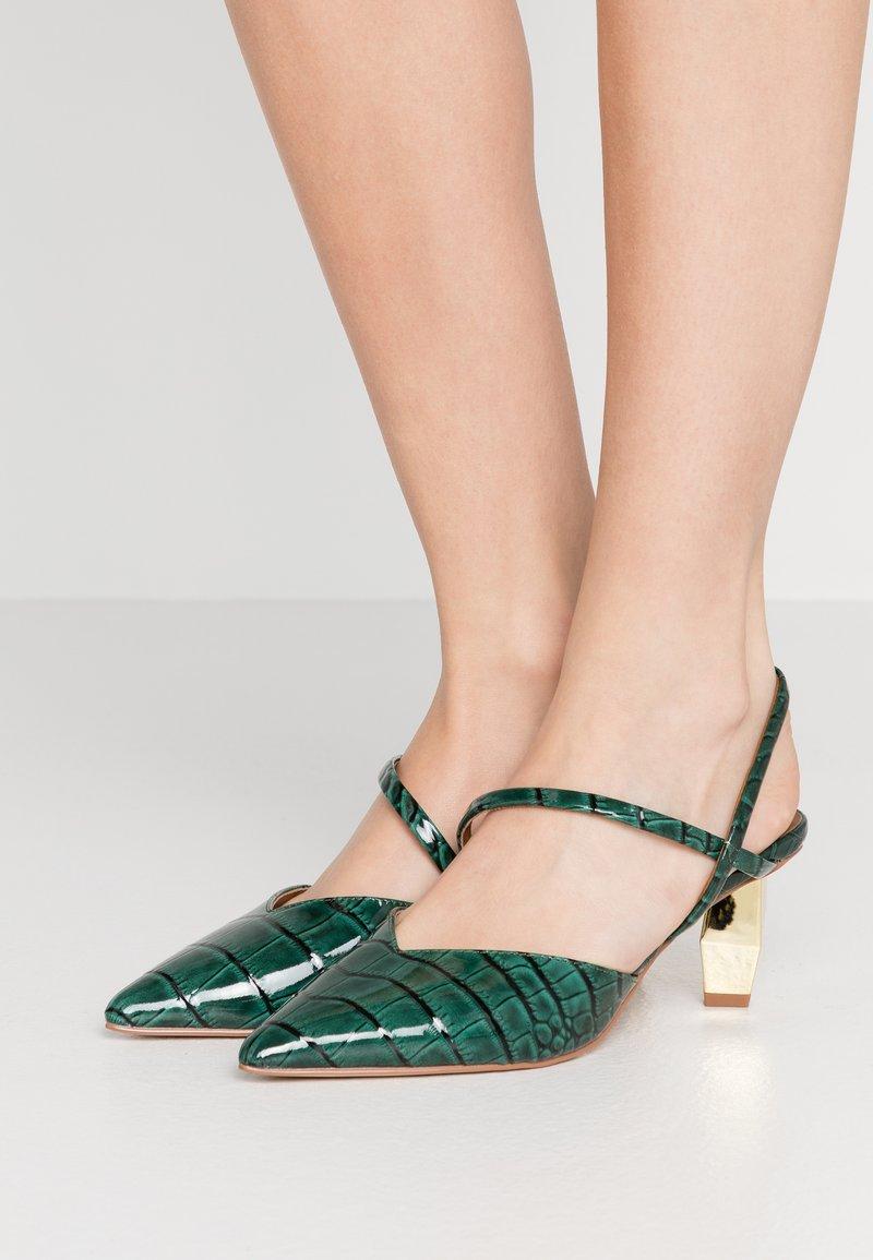 Kurt Geiger London - DELLA SLING - Classic heels - dark green