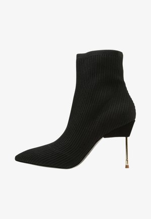 BARBICAN - High heeled ankle boots - black