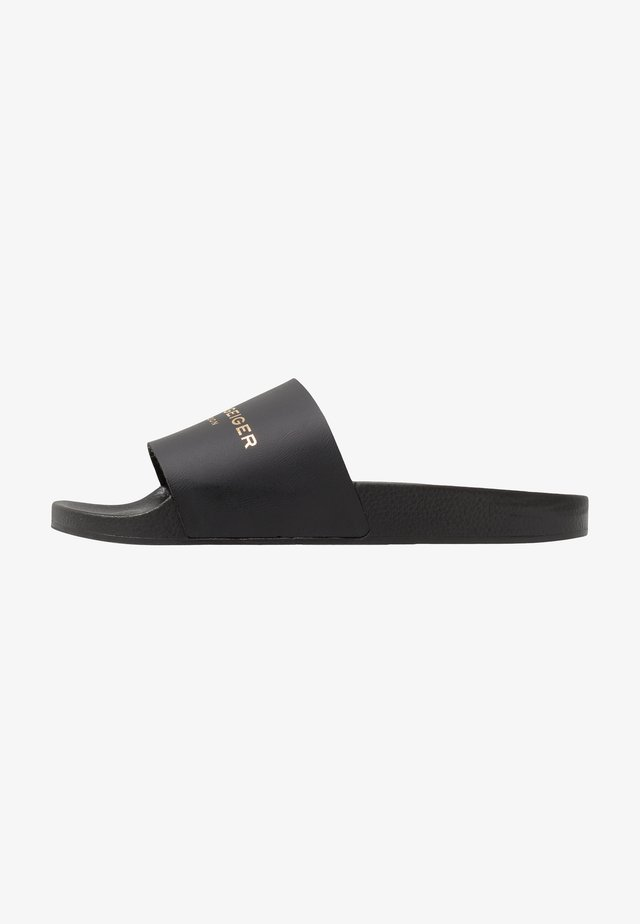LEWIS SLIDER - Sandaler - black/white
