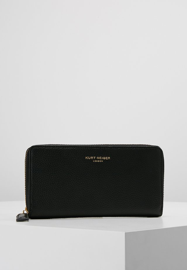 ZIP AROUND WALLET - Lommebok - black