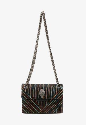 MINI KENSINGTON BAG - Taška spříčným popruhem - black/multi-coloured