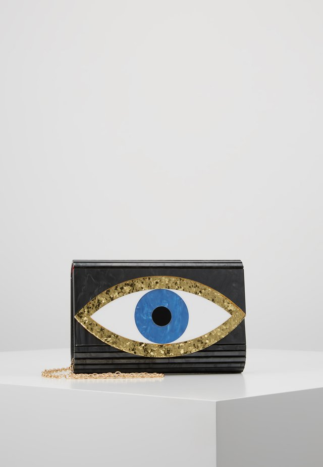 EYE PARTY ENVELOPE - Across body bag - black