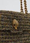 Kurt Geiger London - TWEED KENSINGTON X BAG - Håndtasker - gold comb