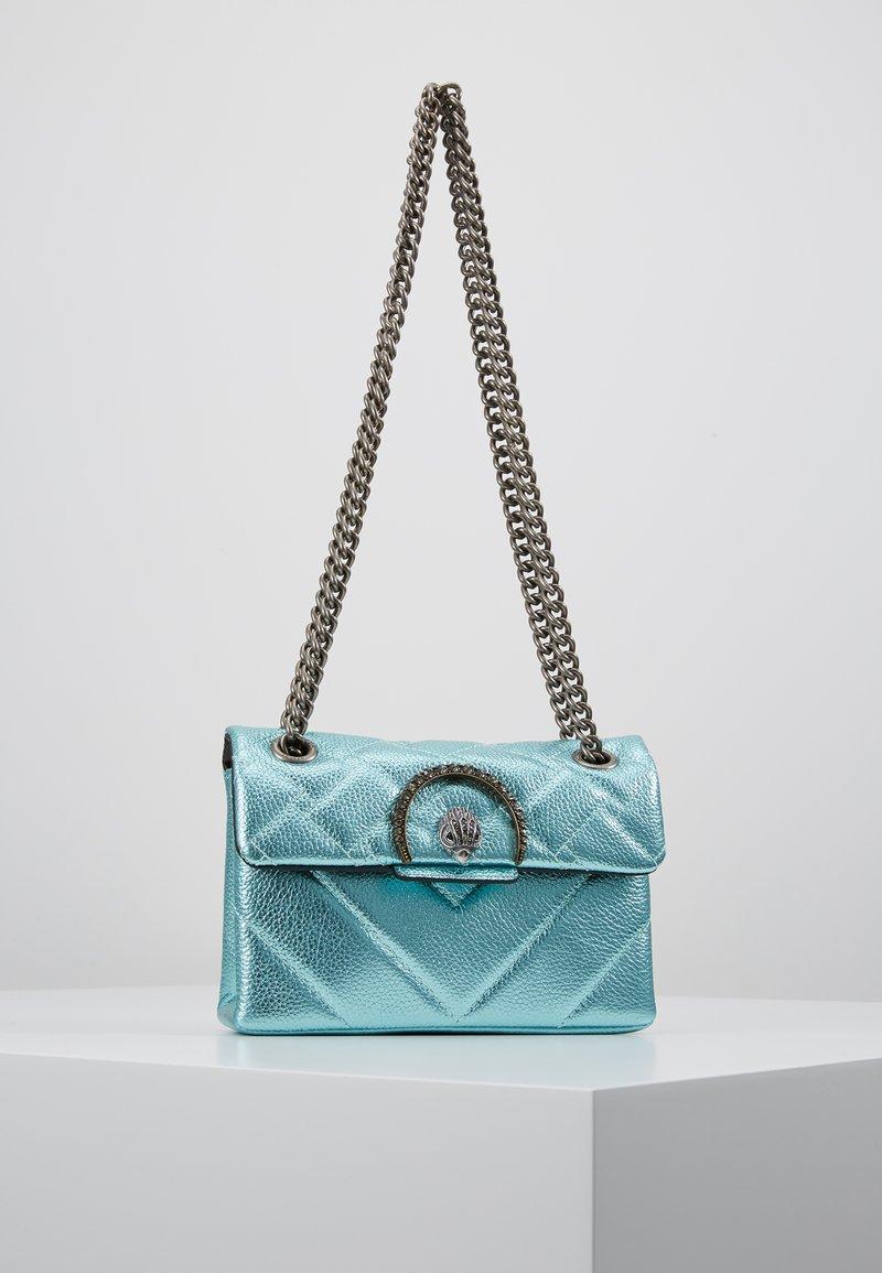 Kurt Geiger London - EXCLUSIVE MINI KENSINGTON BAG - Skuldertasker - turquoise