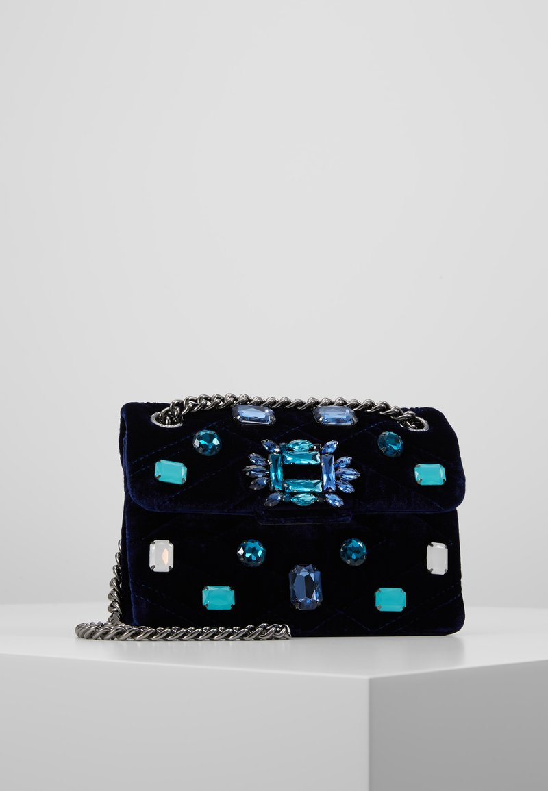 Kurt Geiger London - EXCLUSIVE MINI MAYFAIR BAG - Skuldertasker - dark blue