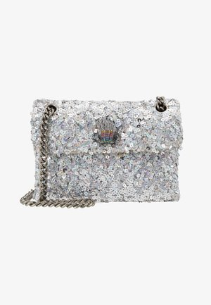 SEQUINS MINI KENS BAG - Bandolera - silver com
