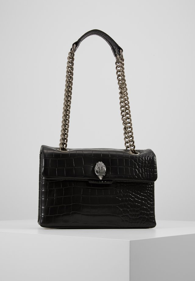 CROC KENSINGTON BAG - Across body bag - black/comb
