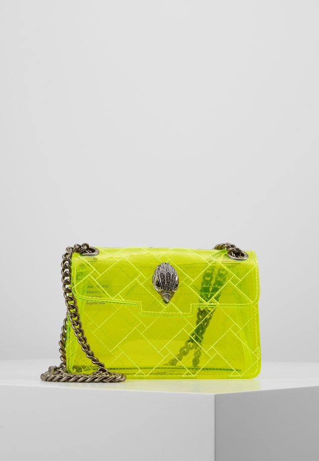 TRANSPARENT MINI KEN - Across body bag - yellow