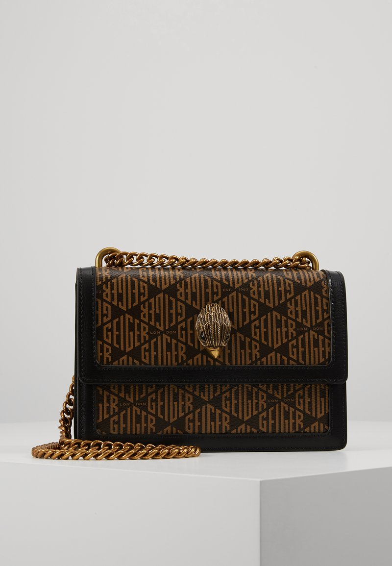 Kurt Geiger London - MONOGRAM SHOREDITCH - Torba na ramię - black/brown