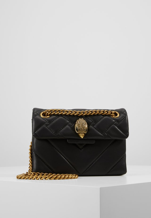 MINI KENSINGTON X BAG - Axelremsväska - black