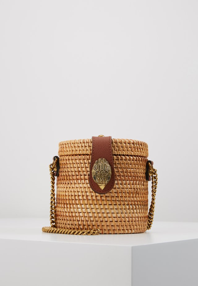 ROUND BUCKET BAG - Across body bag - camel