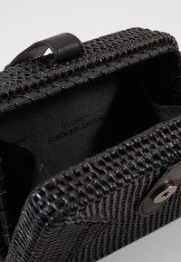 Kurt Geiger London - SQUARE BASKET BAG - Taška spříčným popruhem - black - 4
