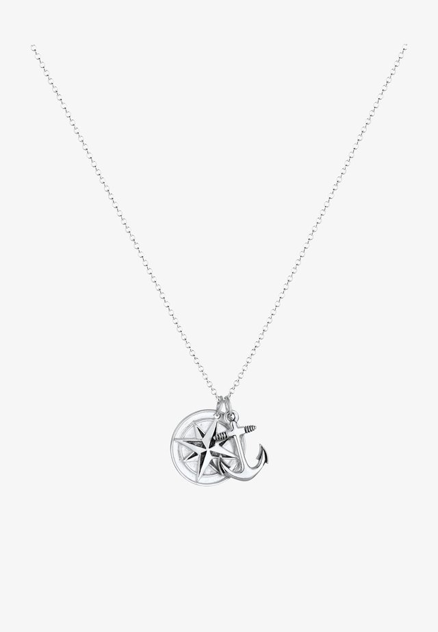 KOMPASS ANKER - Necklace - silver-coloured