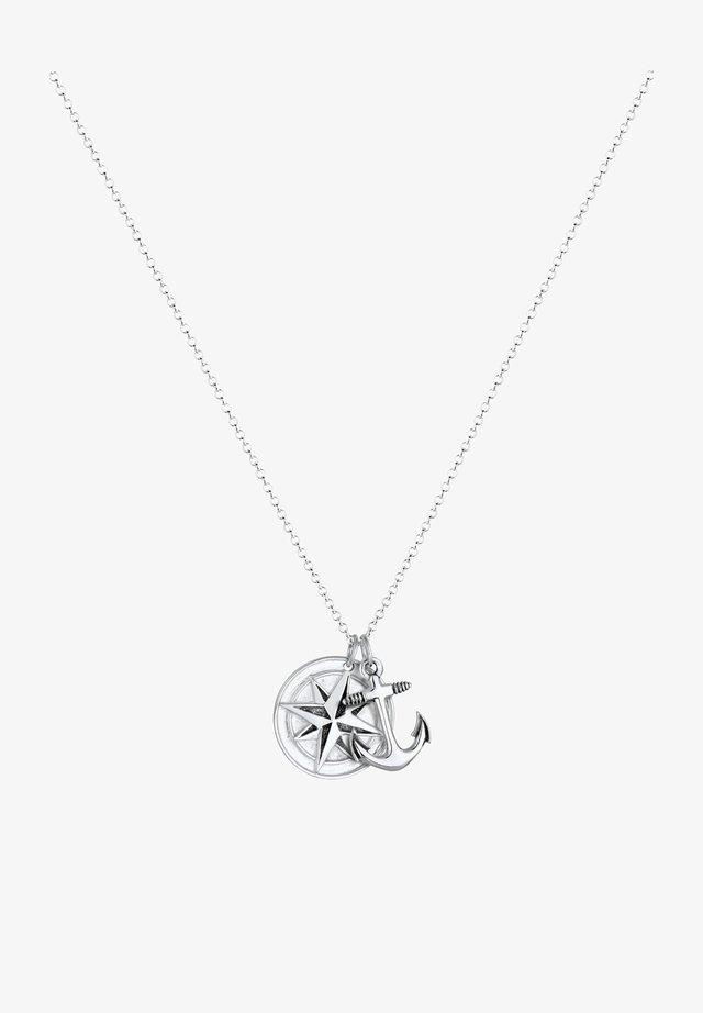 KOMPASS ANKER - Halskette - silver-coloured