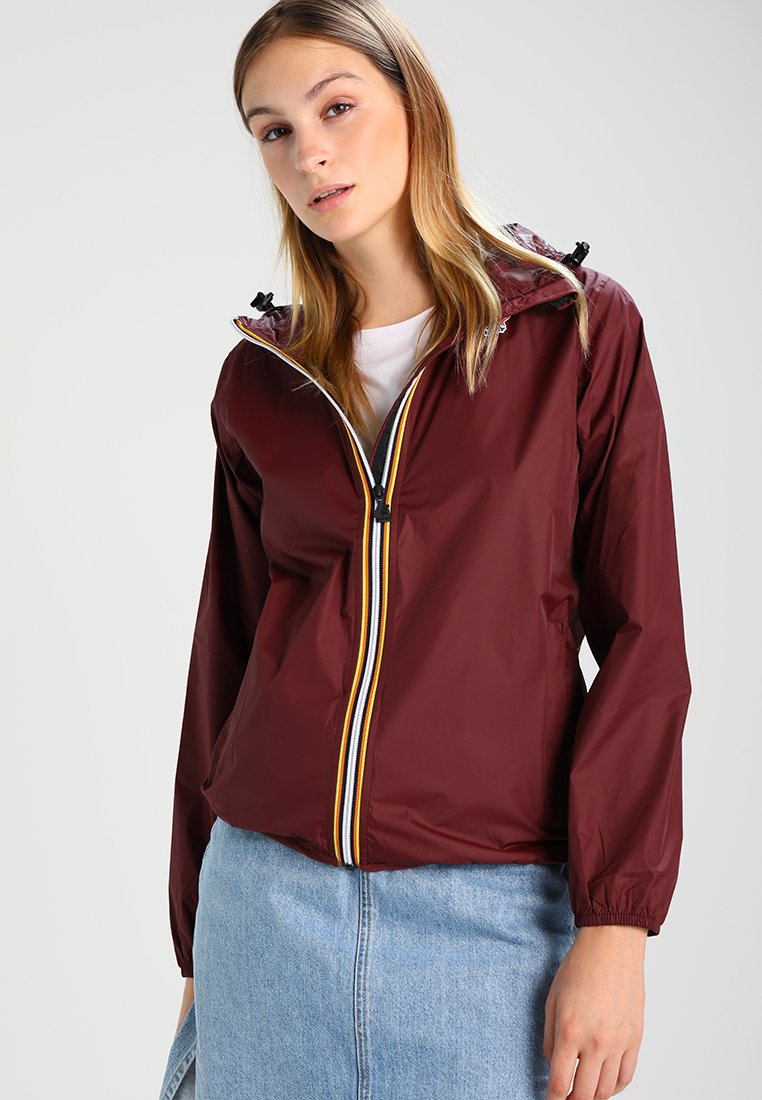 K-Way - LE VRAI CLAUDETTE - Waterproof jacket - bordeaux