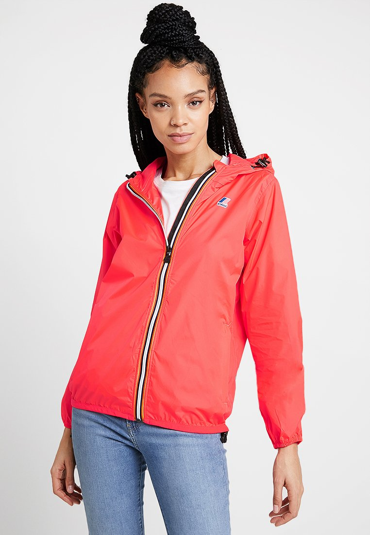 K-Way - LE VRAI CLAUDETTE - Waterproof jacket - red fluo