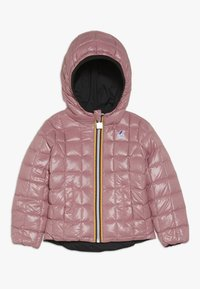 K-Way - THERMO PLUS DOUBLE - Down jacket - black/pink dusty - 2