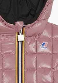 K-Way - THERMO PLUS DOUBLE - Down jacket - black/pink dusty - 5