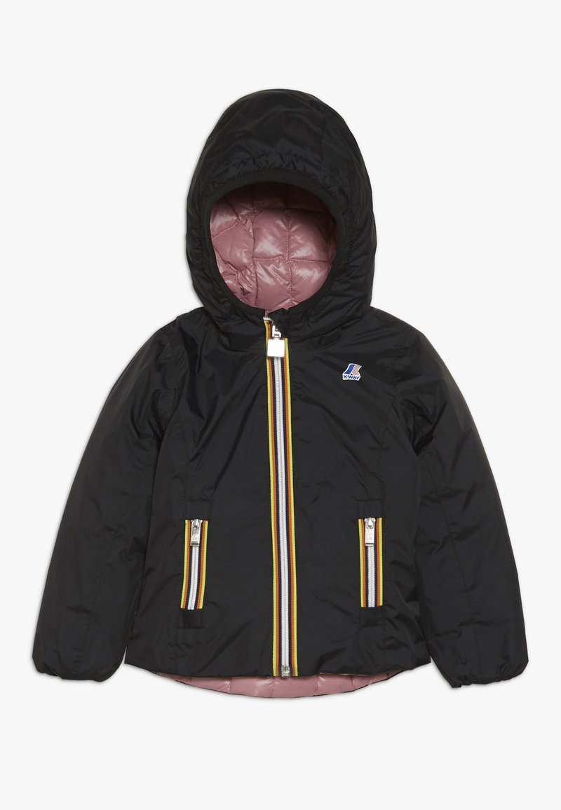 K-Way - THERMO PLUS DOUBLE - Down jacket - black/pink dusty