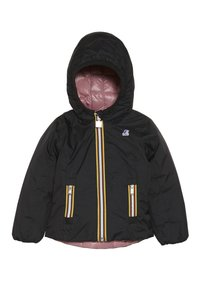 K-Way - THERMO PLUS DOUBLE - Down jacket - black/pink dusty - 4