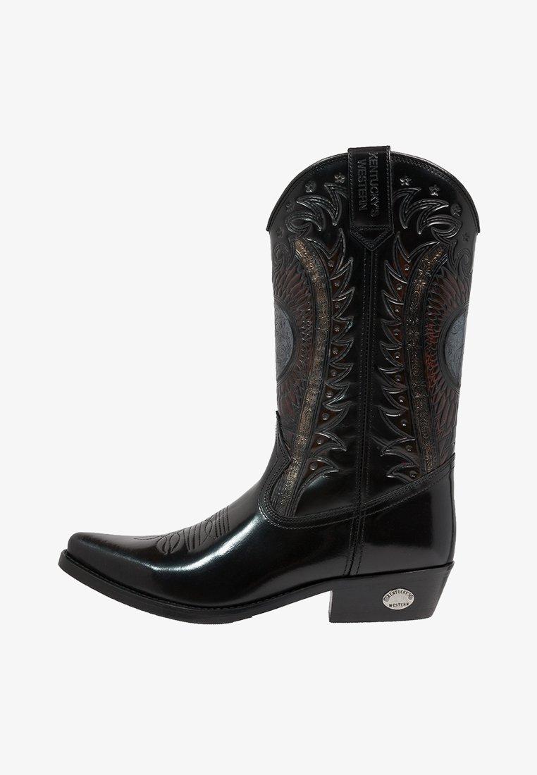 Kentucky's Western - Cowboy/Biker boots - antik schwarz