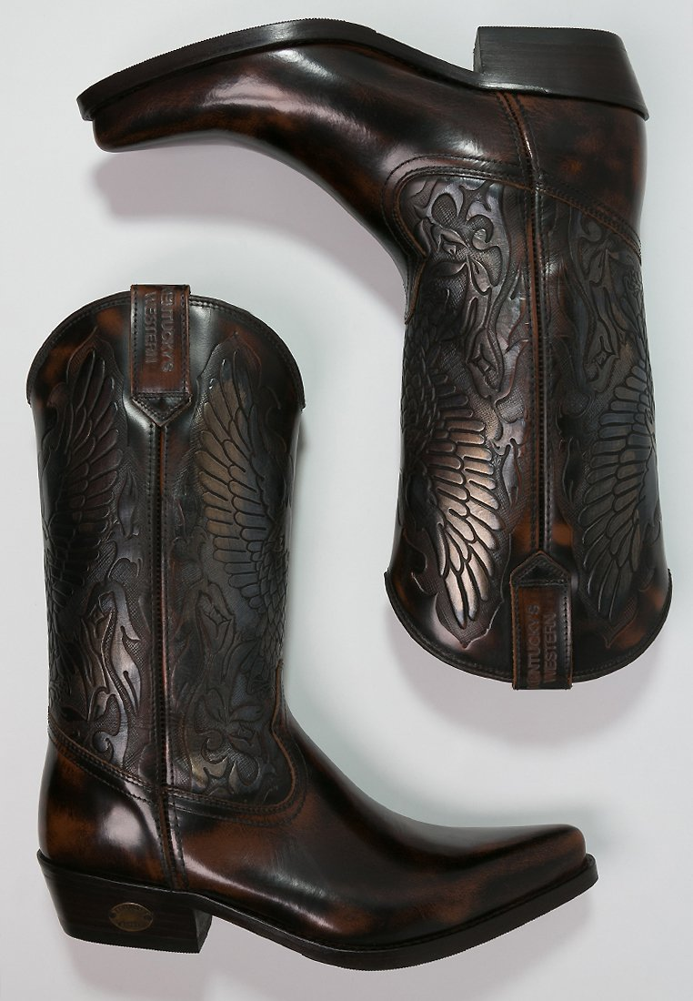 Kentucky's Western Stivali Texani / Biker - Marron Scarpe Scontate