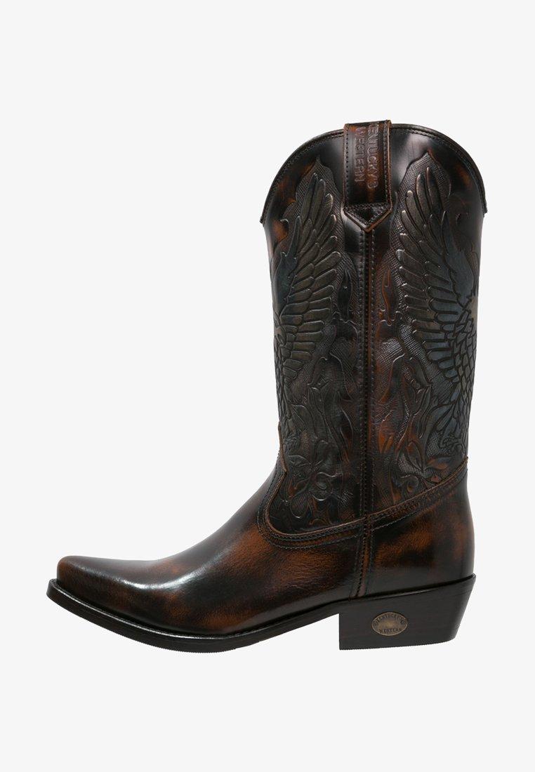 Kentucky's Western - Kovbojské/motorkářské boty - marron
