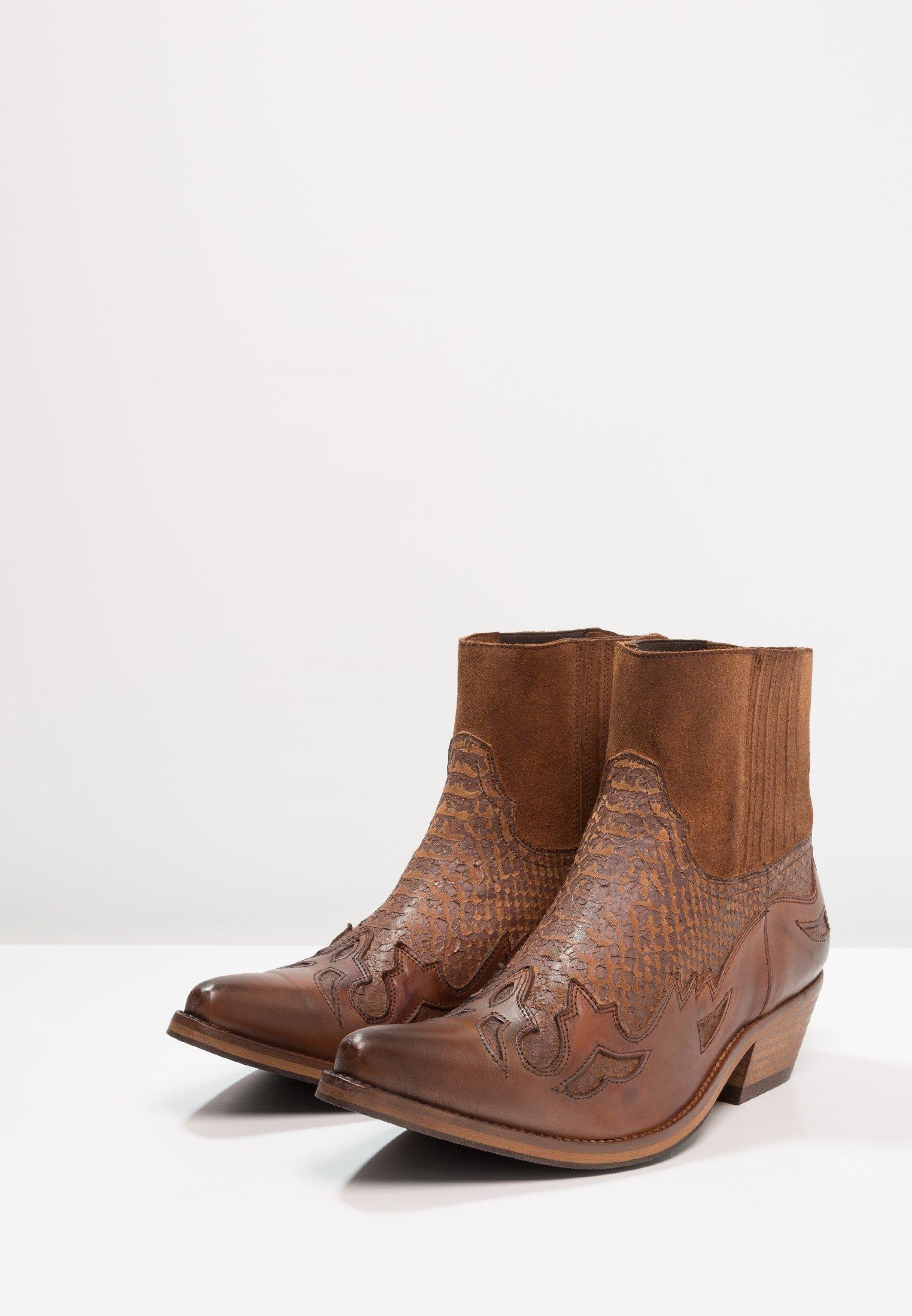 Kentucky's Western Botki kowbojki i motocyklowe - tint brown