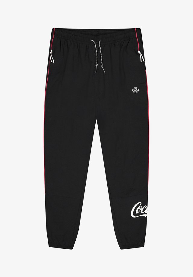 COCA-COLA HOOL - Tracksuit bottoms - black