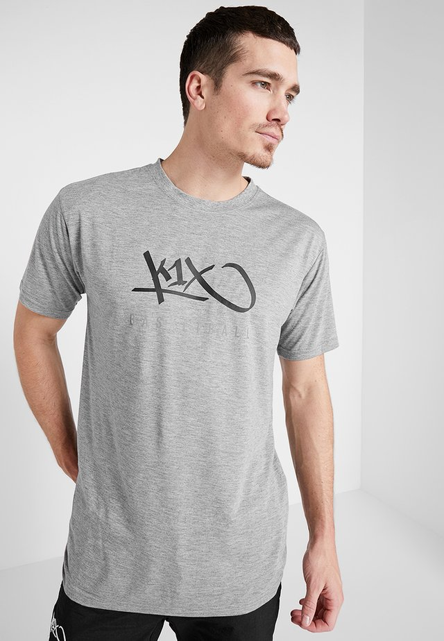 HARDWOOD  - T-shirt z nadrukiem - grey heather