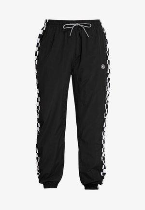 CHECKER PANTS - Spodnie treningowe - black