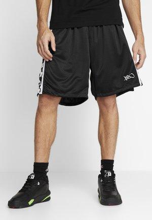 CHECKER PANEL SHORTS - Sports shorts - black